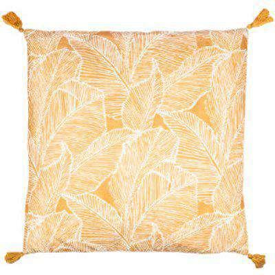 Talia Palm Print Outdoor Cushion - Orange