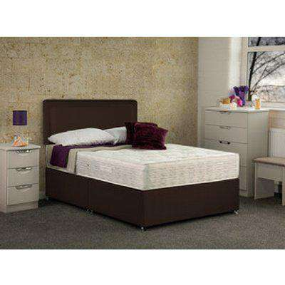 Tamar Non Storage Divan Base Bed With Mattress - Chocolate / Small Double