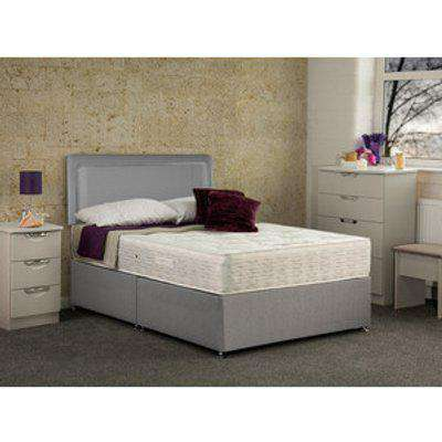 Tamar Non Storage Divan Base Bed With Mattress - Black / Double