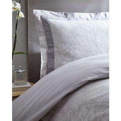 Tatton Duvet And Pillowcase Set - Silver / Single
