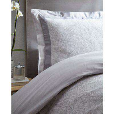 Tatton Duvet And Pillowcase Set - Silver / King