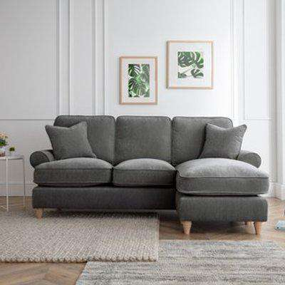 The Amilia Left Hand Chaise - Charcoal