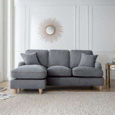 The Eva Left Hand Chaise - Charcoal