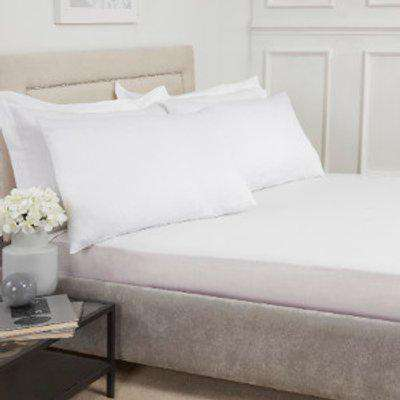 180 Thread Count Cotton Deep Fitted Sheet - White / Super King