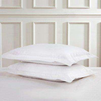 180 Thread Count Cotton Oxford Pillowcases - White
