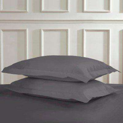 180 Thread Count Cotton Oxford Pillowcases - Charcoal