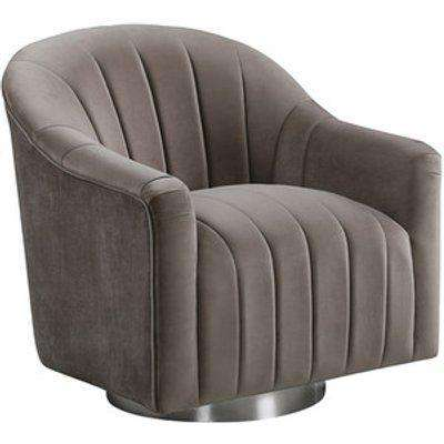 Tiffany Swivel Lounge Chaise Chair - Cappuccino