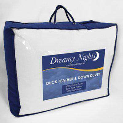 4.5 tog Duck Feather  Down Duvet - White / Double