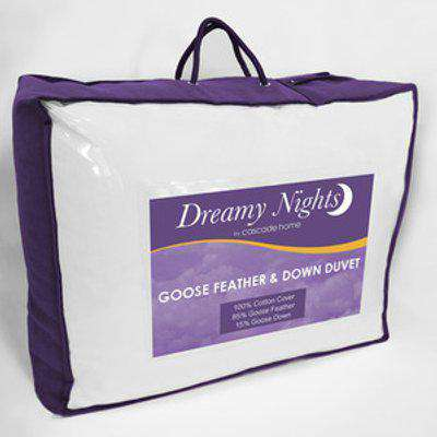 13.5 tog Goose Feather and Down Duvet - White / Single