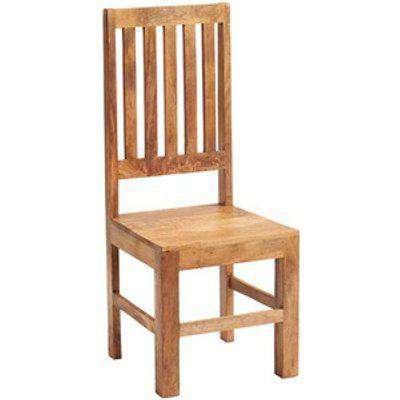 Toko Light Mango Furniture High Slat Back Dining Room Chair - Light Wood