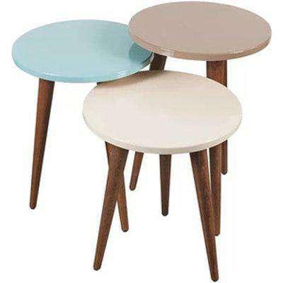 Torino 3-Piece Glossy Modern Coffee Table Set - 3 colours