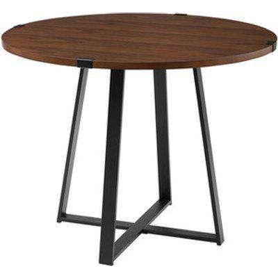 Toronto Round Dining Table - Dark Walnut