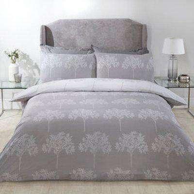 Woodbury Duvet Cover and Pillowcase Set - Silver / Super King