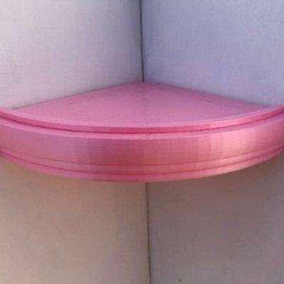 Trent Corner Floating Shelf 280mm - Pink