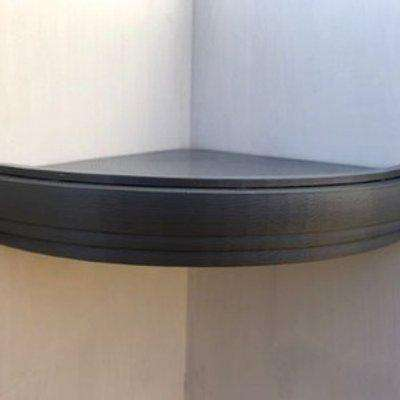 Trent Corner Floating Shelf 200mm - Silver