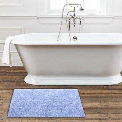 Tufted Bath Mat 100% Cotton - Blue