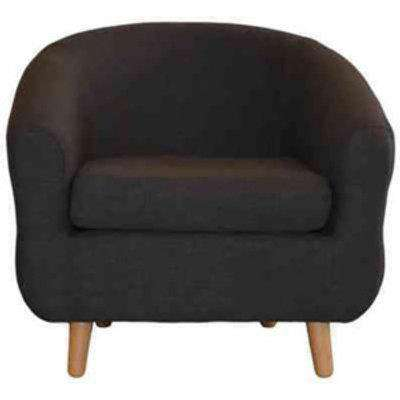 Turin Tub Chair - Charcoal