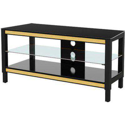 Twist Height and Colour Adjustable TV Stand - Black