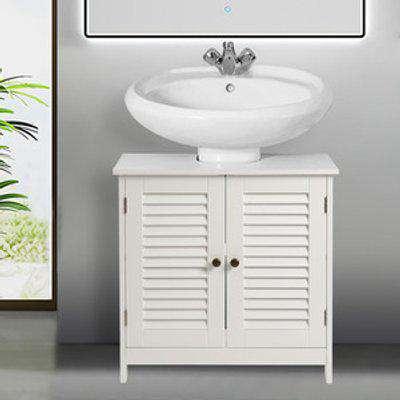 Under Sink Cabinet Bathroom Unit Storage Furniture - White