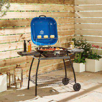 Valdes Charcoal BBQ With Blue Lid