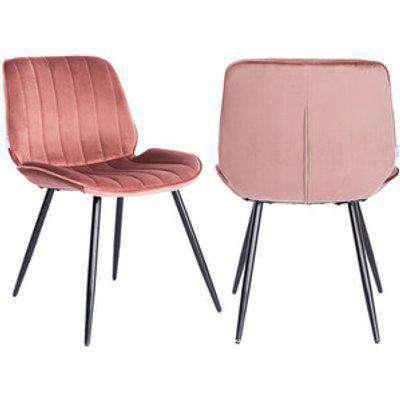 Velvet Dining Armchair - Pink