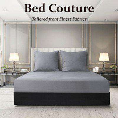 Velvet Flannel Fitted Bed Sheet Double - Warm Grey