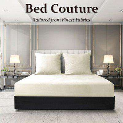 Velvet Flannel Fitted Bed Sheet Queen - Ivory