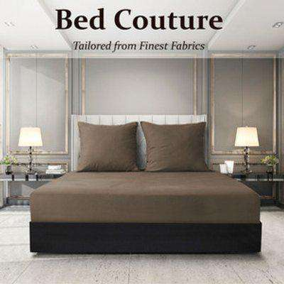 Velvet Flannel Fitted Bed Sheet Queen - Cappuccino