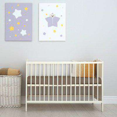 60x120cm Velvet Flannel Fitted Cot Crib Bed Sheets - Cappuccino