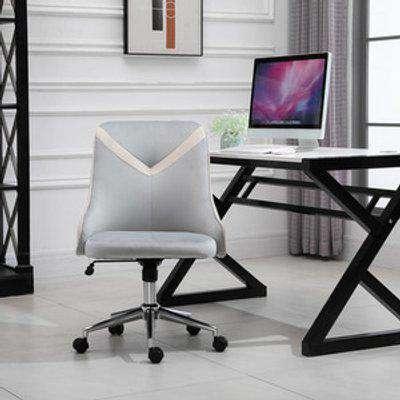 Velvet Office Chair  - Beige and grey