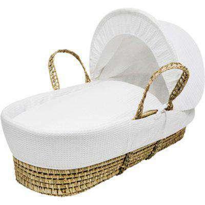 White Waffle Moses Basket