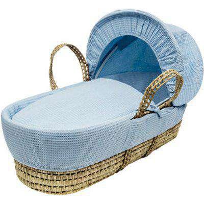 Blue Waffle Palm Moses Basket