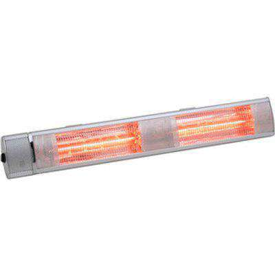 Wall Mounted Electric Patio Heater - Silver