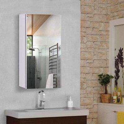 Wall-Mounted Bathroom Mirror Cabinet - Silver