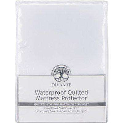 Waterproof Quilted Mattress Protector - Double