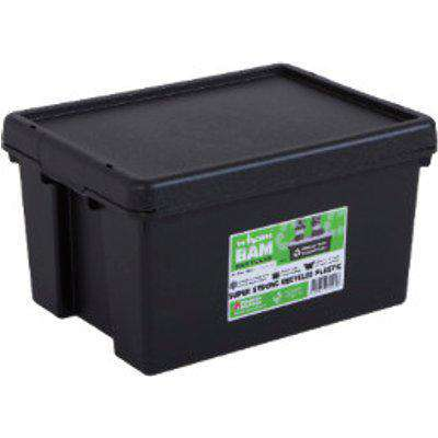 Wham Recycled Black Storage Box with Lid - 16l