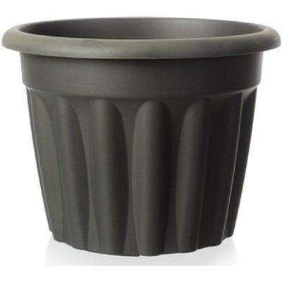 Wham Vista 60cm Round Plastic Garden Planter (Slate)
