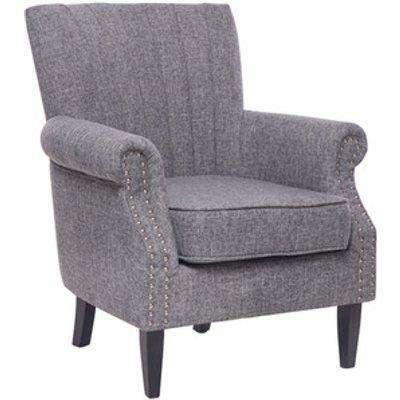 Wingback Armchair - Light Grey