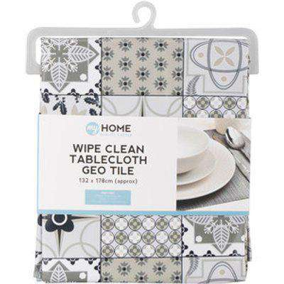 Wipe Clean Tiled Tablecloth