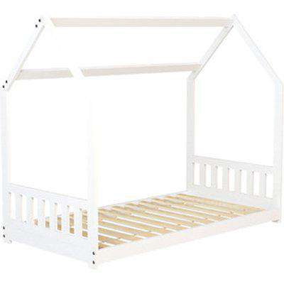 Wooden House Bed Frame - White / House