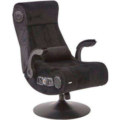 X Rocker Deluxe Chenille Gaming Chair - Black