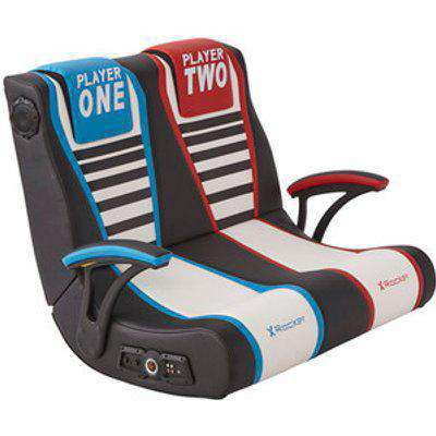 X Rocker Duel Rivals 2.1 Gaming Chair -  Black / Blue / Red