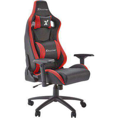 X Rocker Merlin Pc Office Gaming Chair  - Red