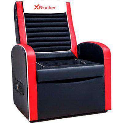 X Rocker Shift Sport 2.1 Storage Chair - Red/Black