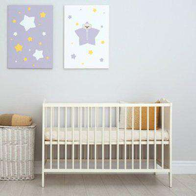 70x140 cm Velvet Flannel Fitted Cot Crib Bed Sheets Double Pack - Ivory