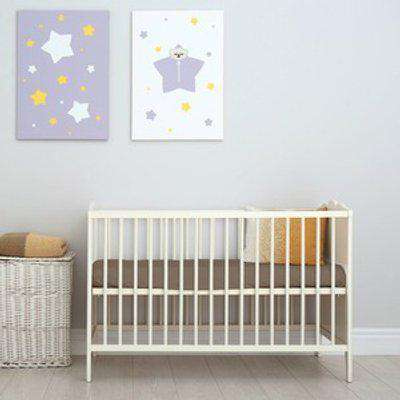 70x140 cm Velvet Flannel Fitted Cot Crib Bed Sheets Double Pack - Cappuccino
