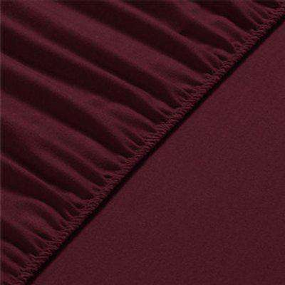 80x190x20 cm Flannel Fleece Fitted Bed Sheet  - Chestnut