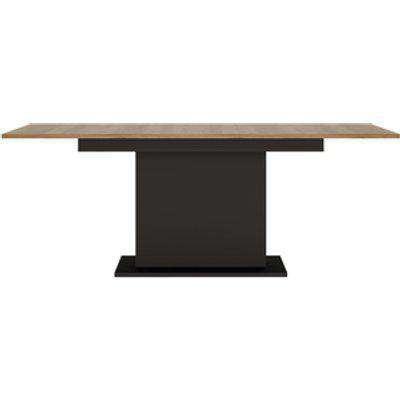 Zigzag Extending Dining Table - Black & Dark Wood