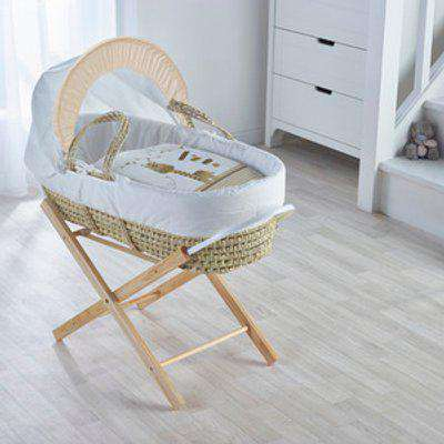 Zoo Time Moses Basket with Natural Opal Folding Stand