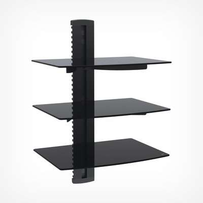 2x Floating Shelf - Black